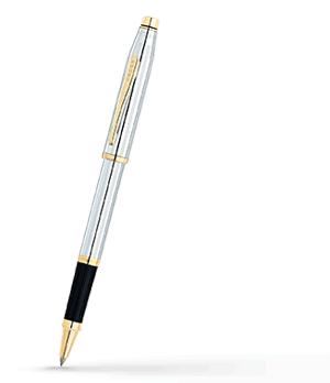 Чернильная ручка Cross Century II, нержавеющая сталь, позолота 23 К, эпок  3304