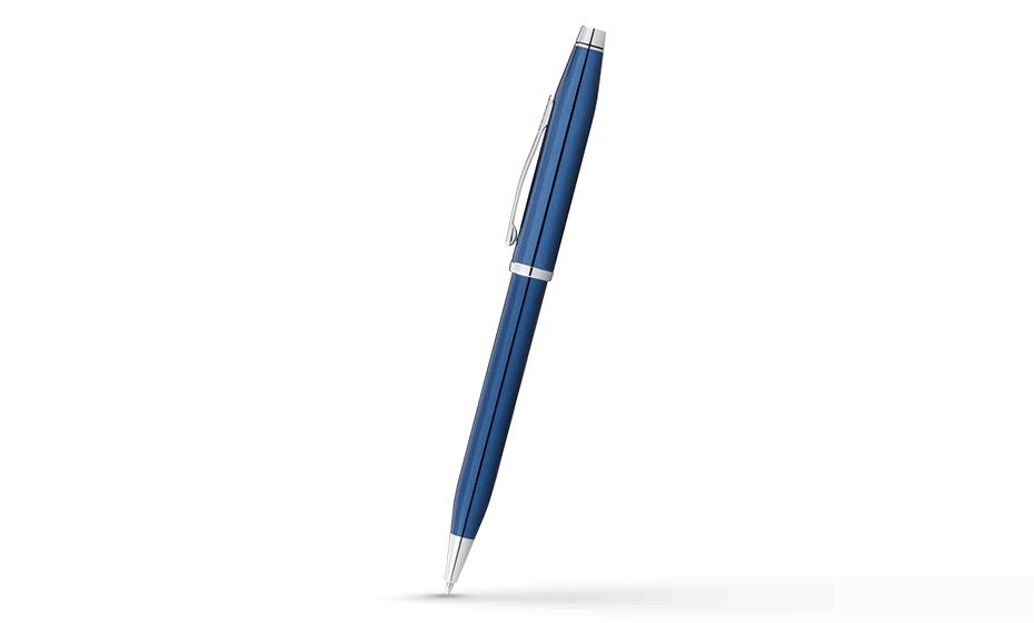 Шариковая ручка Cross Century Classic, латунь, черный лак, хром  AT0082WG-87