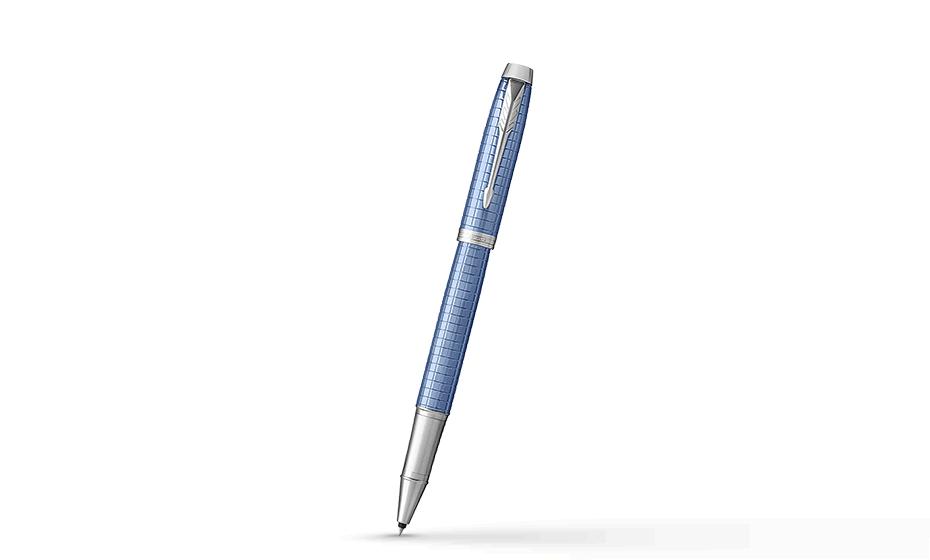 Чернильная ручка Parker Premium Blue CT, голубой лак, хром  1931690