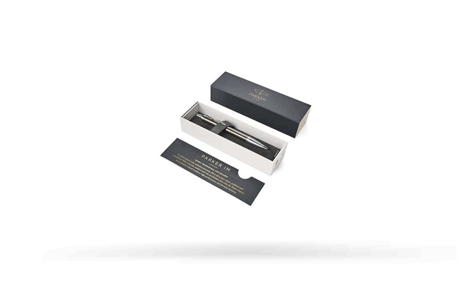Шариковая ручка Parker IM Premium Royal Dark Espresso CT, темно серый лак  1931683 351179316833