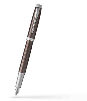Перьевая ручка Parker IM Deep Black CT, черный лак, хром  1931676