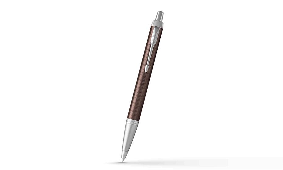 Шариковая ручка Parker IM Premium Brown CT, коричневый лак, хром  1931679 1931679 351179316796