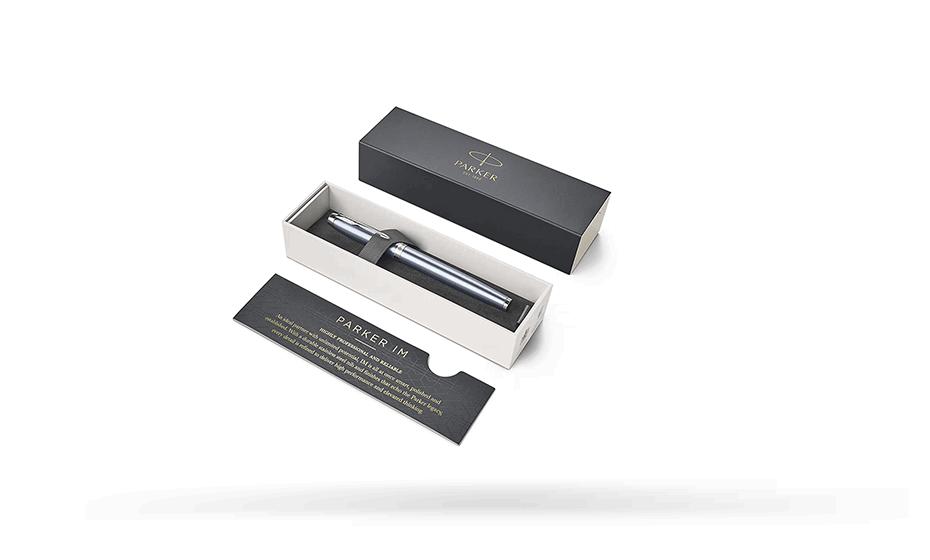 Чернильная ручка Parker IM Deep Black CT, черный лак, хром  1931662 3501179316628