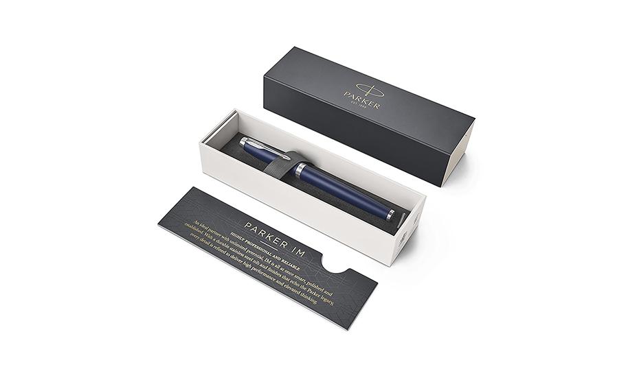 Чернильная ручка Parker IM Deep Black CT, черный лак, хром  1931661 3501179316611