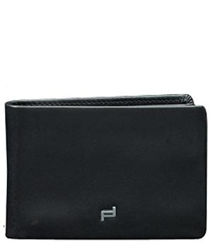 Портмоне мужское черное Porsche Design Натуральная кожа, 3 отделения для кредитных карт,  4090002433