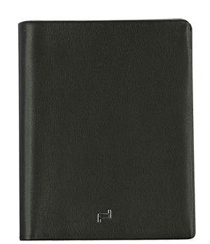 Портмоне мужское черное Porsche Design Натуральная кожа, отделение для банкнот, 8 отделен  4090002485