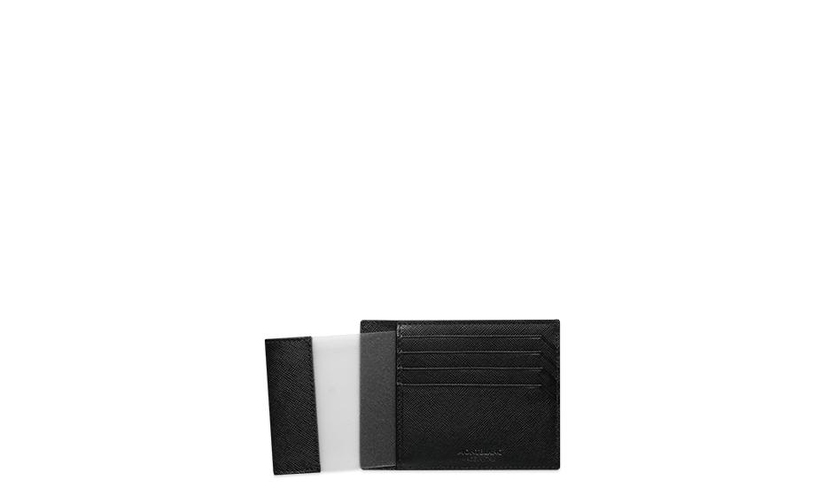 Визитница Montblanc SARTORIAL, кожа, черная, с отделением для удостове  116340