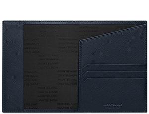 Обложка для паспорта Montblanc SARTORIAL, кожа, черно-синяя  116347