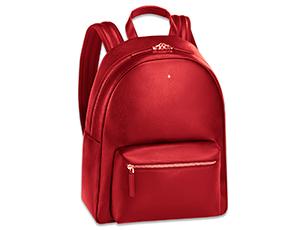 Рюкзак Montblanc SARTORIAL, малый, кожа с тиснением, красный  116753