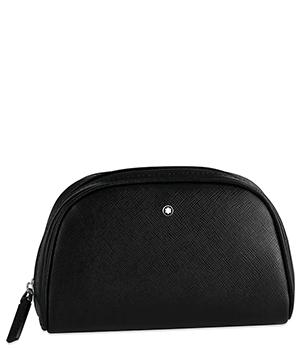 Косметичка Montblanc SARTORIAL, большая, кожа, черная, водонепроницаема  116761