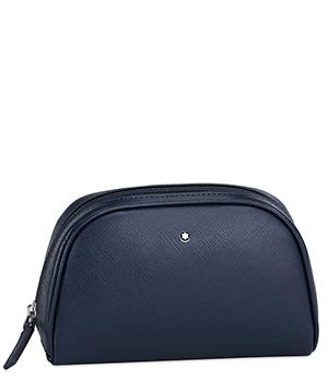 Косметичка Montblanc SARTORIAL, большая, кожа, синяя, водонепроницаемая  116762