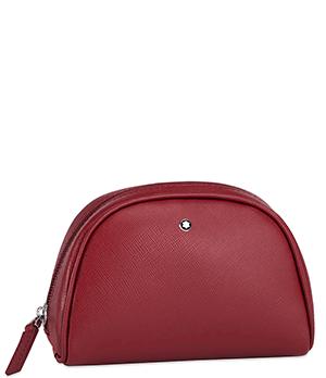 Косметичка Montblanc SARTORIAL, малая, кожа, красная, водонепроницаемая  116765