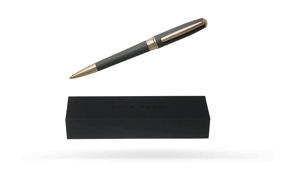 Шариковая ручка Hugo Boss Essential Grey, серый лак  HSC7074J