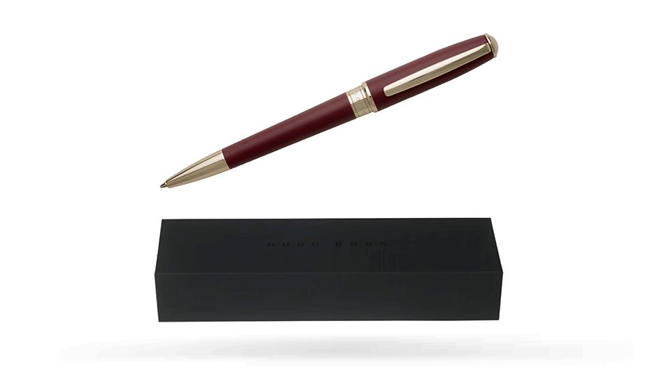 Шариковая ручка Hugo Boss Essential Burgundy, бордовый лак  HSC7074R