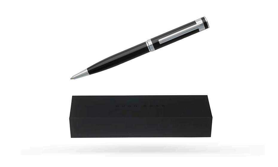 Шариковая ручка Hugo Boss Caption Classic, черный, хром  HST7254