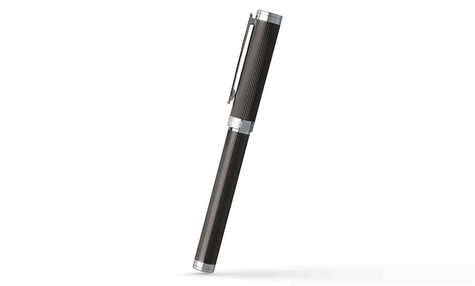 Чернильная ручка Hugo Boss Column Dark Chrome, матовый темный хром  HSW6515