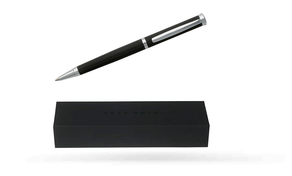 Шариковая ручка Hugo Boss Sophisticated Black, черный лак, хром  HSY7994A