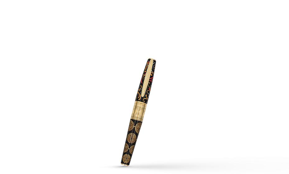 Перьевая ручка Gourji Россия-Китай, серебро, позолота, акриловая смола  IFG0R2CI