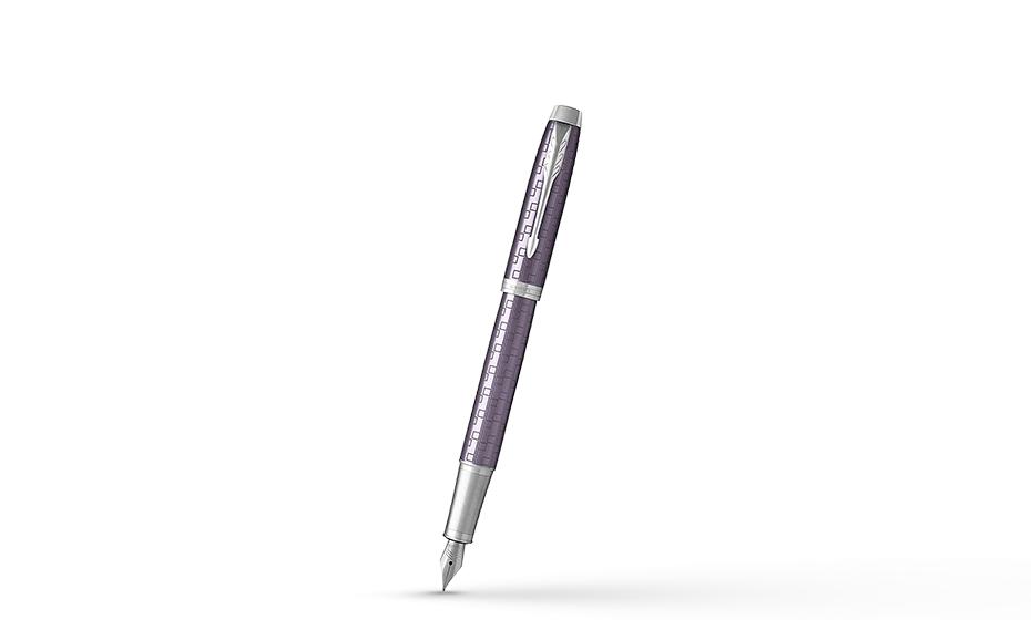 Перьевая ручка Parker IM премиум, анодированный алюминий, темно-фиолетов  1931636 351179316369