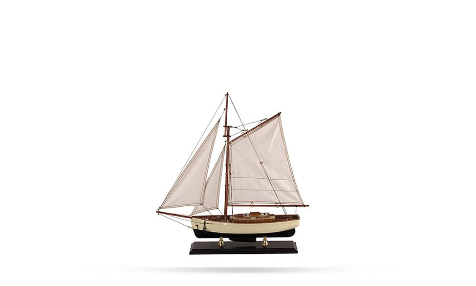 Яхта Authentic Models Дерево, хлопок, латунь, 54.6*12.7*59.7 см  AS134