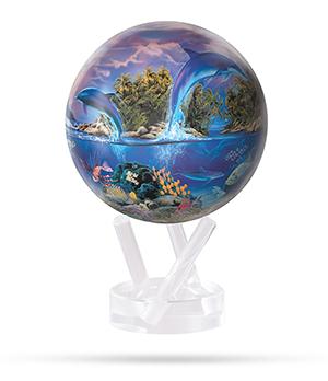 Глобус Mova Mova Морская жизнь, самовращающийся, d12, синий  MG-45-SEALIFE