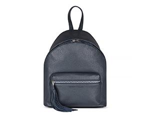 Рюкзак Avanzo Daziaro GRAIN, с обьемным карманом, с кисочкой, кожа, сини  AD-018-103203'