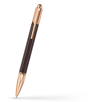 Ручка шариковая Varius Caran d'Ache Ювелирная латунь, африканское черное эбеновое дере  4480-142