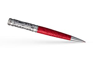 Шариковая ручка Pierre Cardin Leather, латунь, кожа, никель, красная  PC2002BP