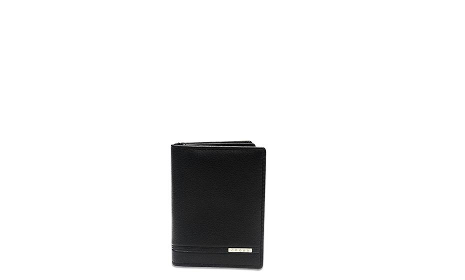 Набор Cross Cross, чехол для к/к, кожа, черный+ручка, черный л  AC018036-1NAB