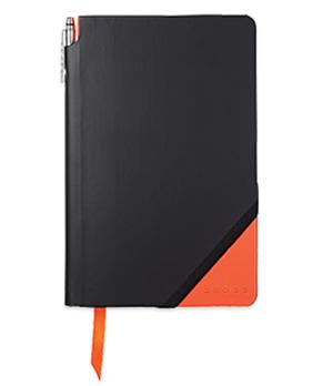 Записная книжка Cross Cross Jot Zone Medium, А5+ручка, черно-оранжевый  AC273-1M