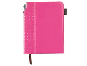 Записная книжка Cross Cross, 250 страниц в линейку, А5+ручка, 3/4, розов  AC236-3M