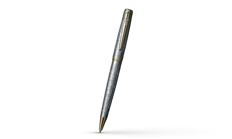 Шариковая ручка Pierre Cardin Renaissance, гравировка, розовая позолота, хром  PC6900BP-G