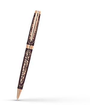 Шариковая ручка Pierre Cardin Renaissance, латунь, лак, коричневая  PC6902BP-R