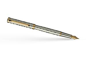 Перьевая ручка Pierre Cardin Evolution, латунь, хром, серебристый  PC1026FP-G