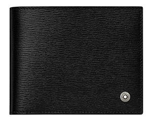 Бумажник Montblanc 4810 Westside, с зажимом для купюр, кожа, черный  114687