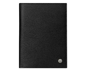 Обложка для паспорта Montblanc 4810 Westside, воловья кожа, черная  114699