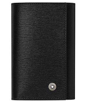 Ключница Montblanc 4810 Westside, на 6 ключей, воловья кожа, черный  114704