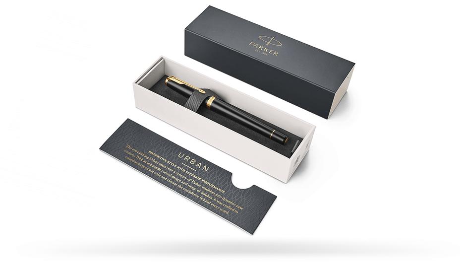 Чернильная ручка Parker Parker Urban Muted Black GT, латунь, пластиковая з  1931584 351179315843