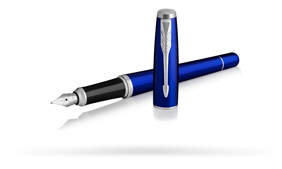 Перьевая ручка Parker Parker Urban Night Sky Blue CT, латунь, лак, хром,  1931598 35117931598
