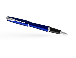Перьевая ручка Parker Parker Urban Night Sky Blue CT, латунь, лак, хром,  1931598