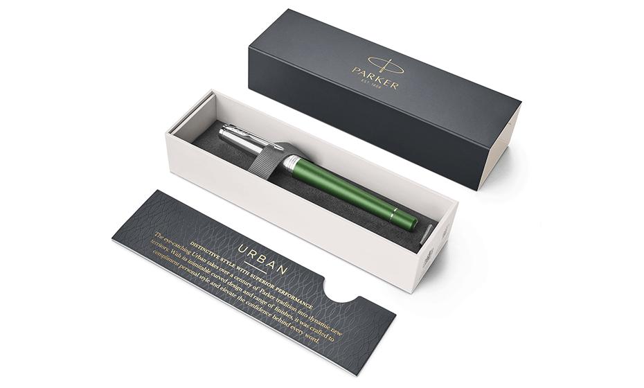 Чернильная ручка Parker Parker Urban Premium Green CT, анодированный алюми  1931618 351179316185