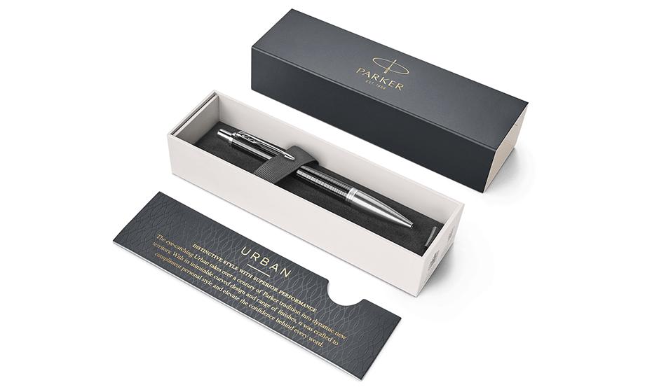 Шариковая ручка Parker Parker Urban Premium Ebony Metal CT, латунь, хром,  1931615 351179316154