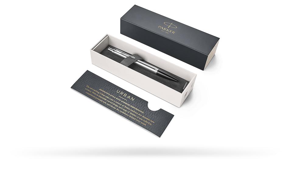 Шариковая ручка Parker Parker Urban Metro Metallic CT, нержавеющая сталь,  1931580
