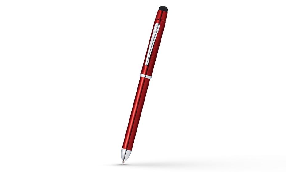 Шариковая ручка Cross Tech 3 Plus латунь, гравировка, многослойное покрытие глянцевым лаком, отделка и детали дизайна - хром AT0090-13 AT0090-13