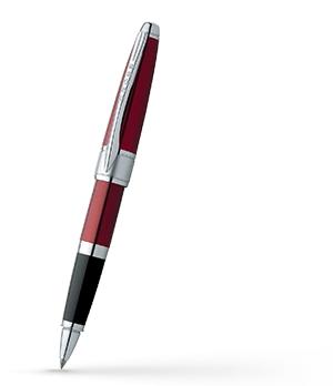 Чернильная ручка Cross Ювелирная латунь, красный лак, родиевое покрытие,  AT0125-3