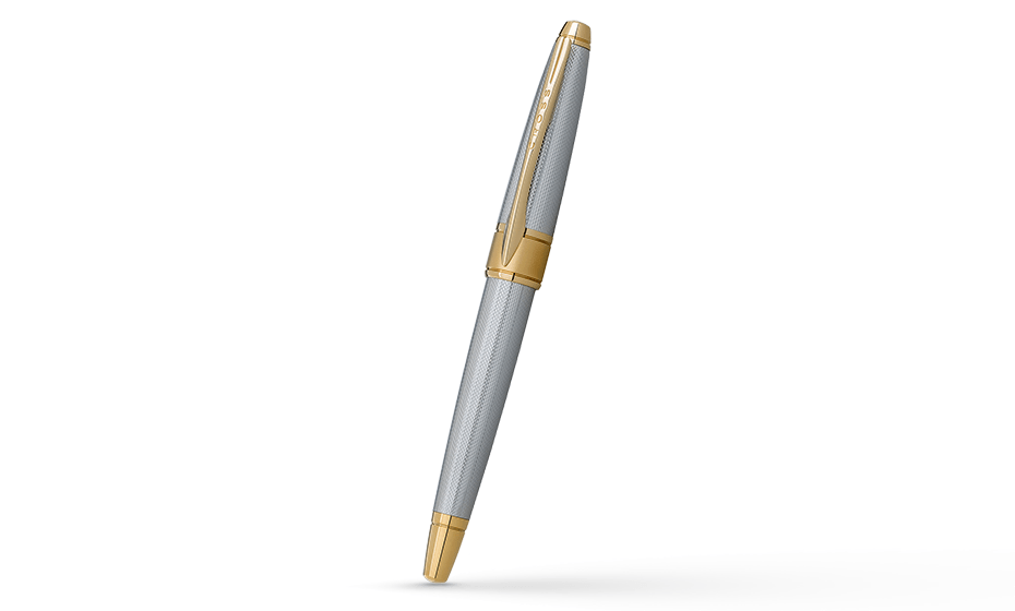 Чернильная ручка Cross Apogee, латунь, позолота 23К, родиевое покрытие, г  AT0125-4