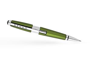 Чернильная ручка Cross Edge, латунь, лак, хром, зеленая  AT0555-4
