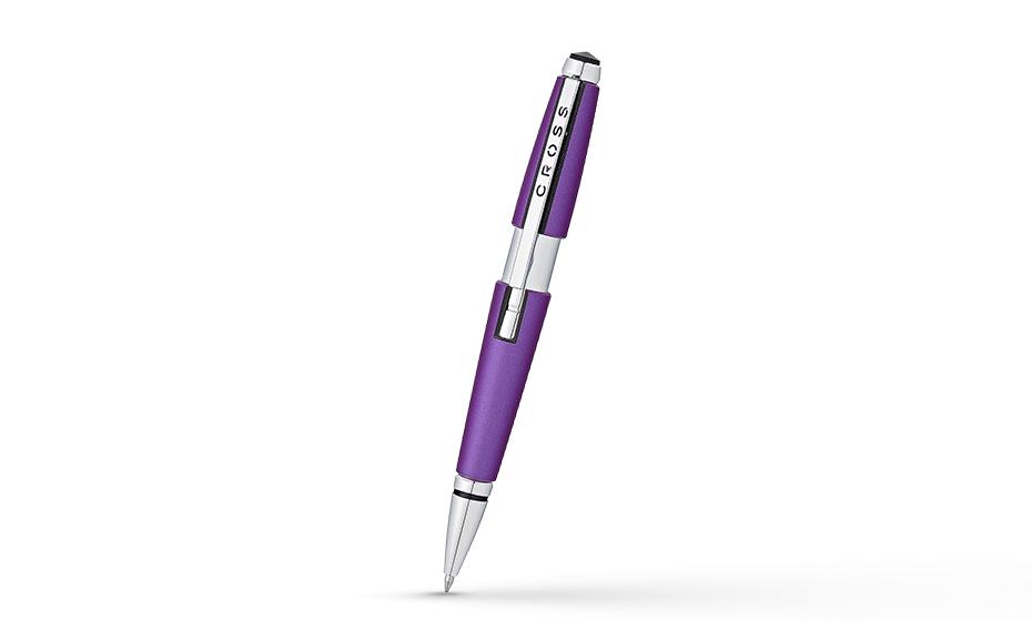 Чернильная ручка Cross Edge, латунь, эпоксидная смола, хромирование, выдв  AT0555-9
