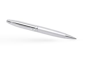 Шариковая ручка Cross Хромирование, поворотный механизм, пишущий узел М  AT0112-4