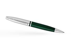 Шариковая ручка Cross Зеленый лак, хромирование, поворотный механизм, пи  AT0112-7